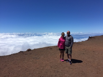 At the top of Haleakala Volcanco